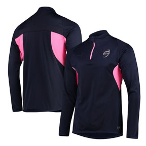 8b44c59aa Puma Arsenal 1 4-Zip Training Track Top (Blue Pink 18 19 ...