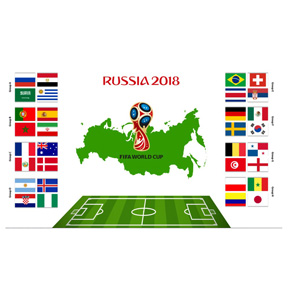 FIFA World Cup 2018 Group Flag Banner (3 x 5)