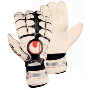 Uhlsport Cerberus Supersoft Bionik Goalie Glove (White/Black/Red)