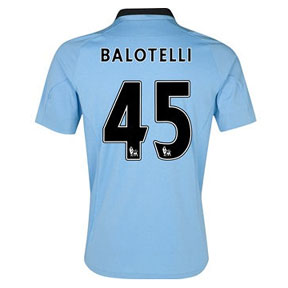 Umbro Manchester City Balotelli #45 Soccer Jersey (Home 2012/13)