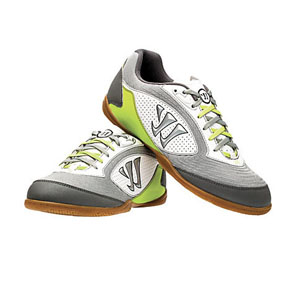 Warrior Thrust Futsal / Indoor Soccer Shoes (White/Lime)