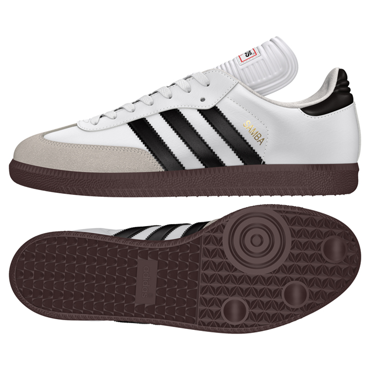 adidas Samba Classic Indoor Soccer Shoes (White/Black ...