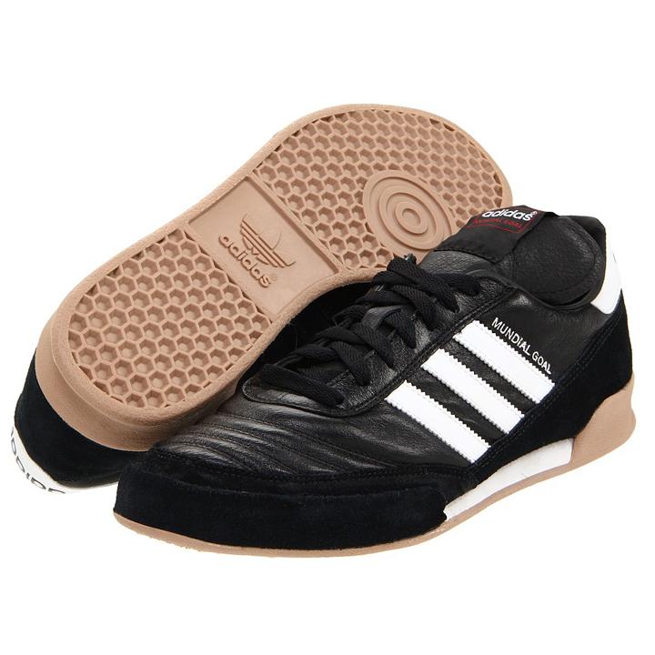 4a7796234d1 adidas Mundial Goal Indoor Soccer Shoes (Black White)   SoccerEvolution