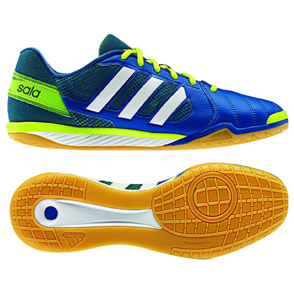 6299a9fb3 adidas FreeFootball Top Sala Indoor Soccer Shoes (Blue Electricity ...