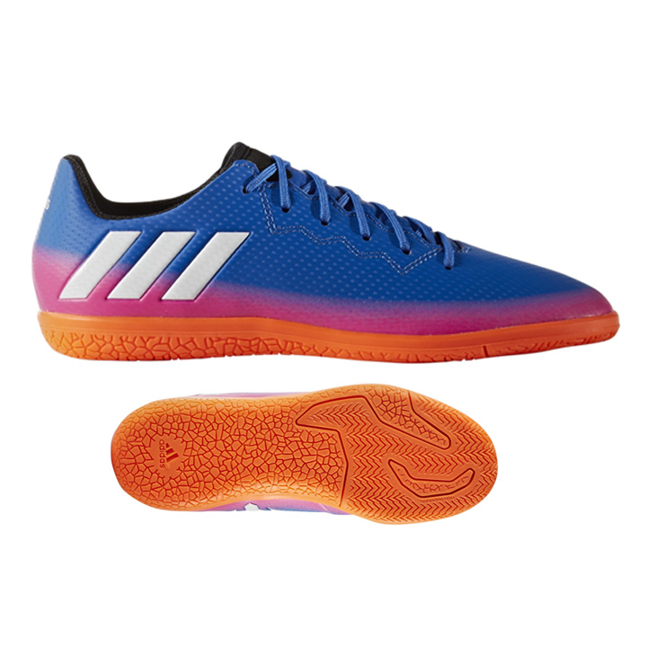 f7f20cd66 adidas Youth Lionel Messi 16.3 Indoor Soccer Shoes (Blue Warning ...