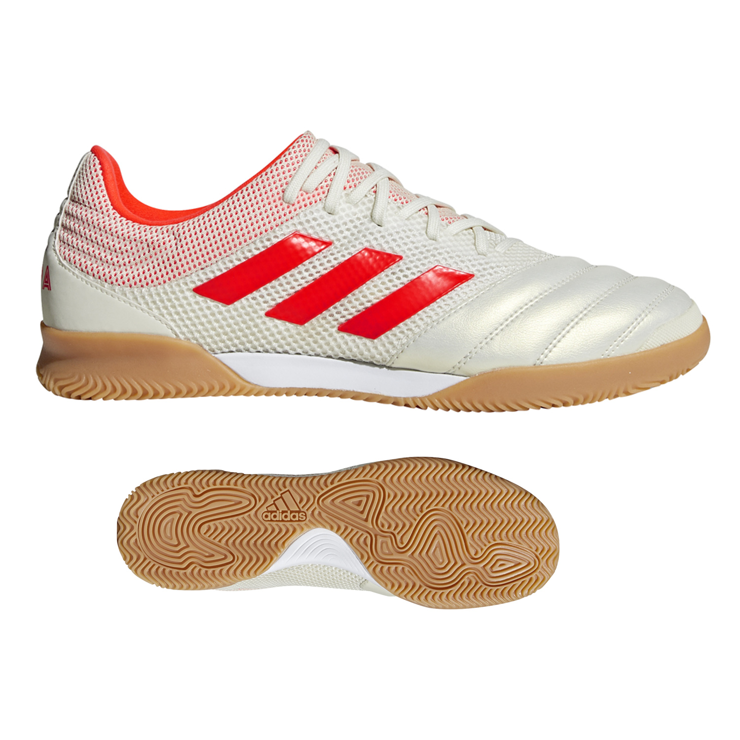 59419c5e5 adidas Copa 19.3 Indoor Soccer Shoes (Off White Solar Red ...