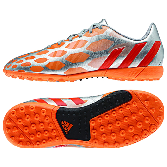 Adidas Predito Instinct Women's Turf Soccer Shoes Sz 7 Silver Orange Red M21751