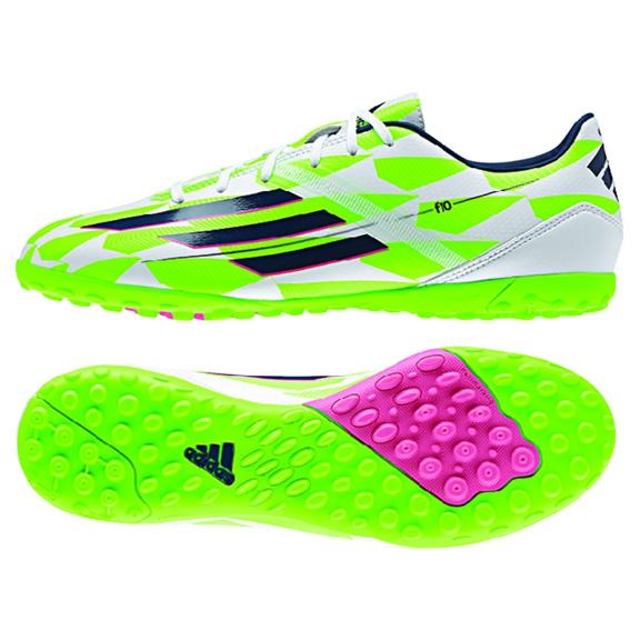 adidas F10 TRX Turf Soccer Shoes (White Green)   SoccerEvolution 4e8d5a79d1