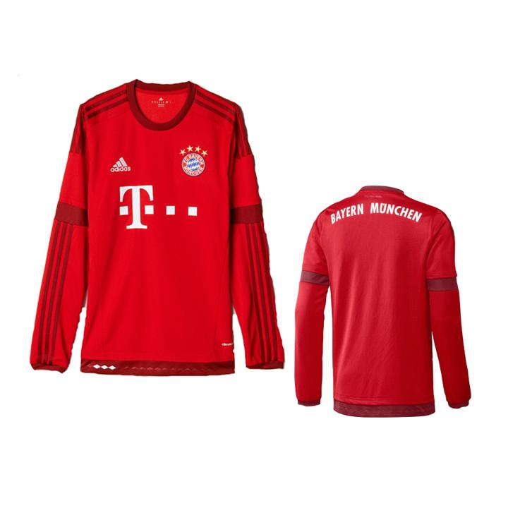 adidas Bayern Munich Long Sleeve Soccer Jersey (Home 15 16 ... 757531c5d