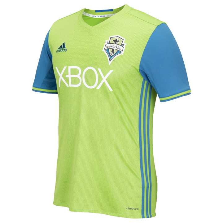 newest 760bf 966b6 adidas Seattle Sounders Soccer Jersey (Home 16/17 ...