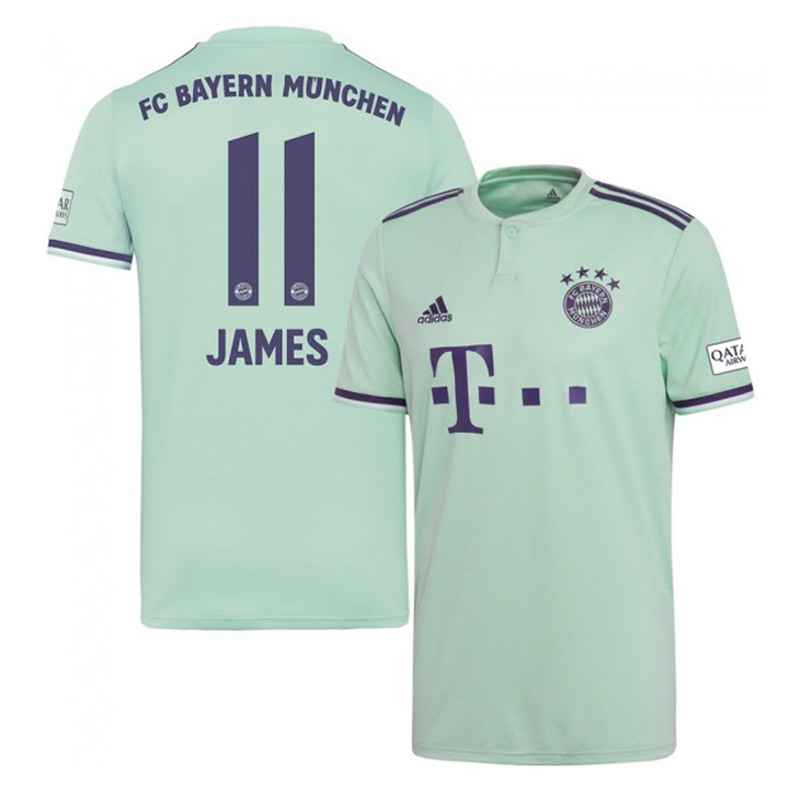 0d18a6183 adidas Youth Bayern Munich James #11 Soccer Jersey (Away 18/19 ...