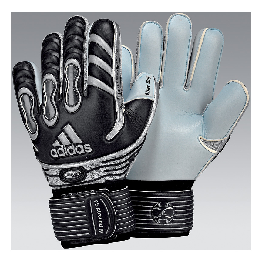 adidas Womens Fingersave Allround Goalie Glove (Black Silver ... 9cde28d65c