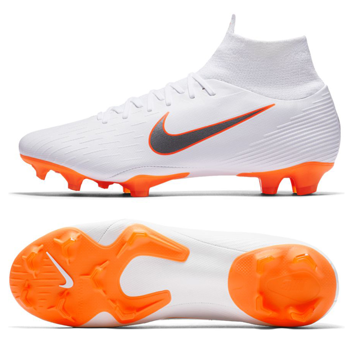 cacf3854f8f1 Nike Superfly 6 Pro FG Soccer Shoes (White/Orange) @ SoccerEvolution