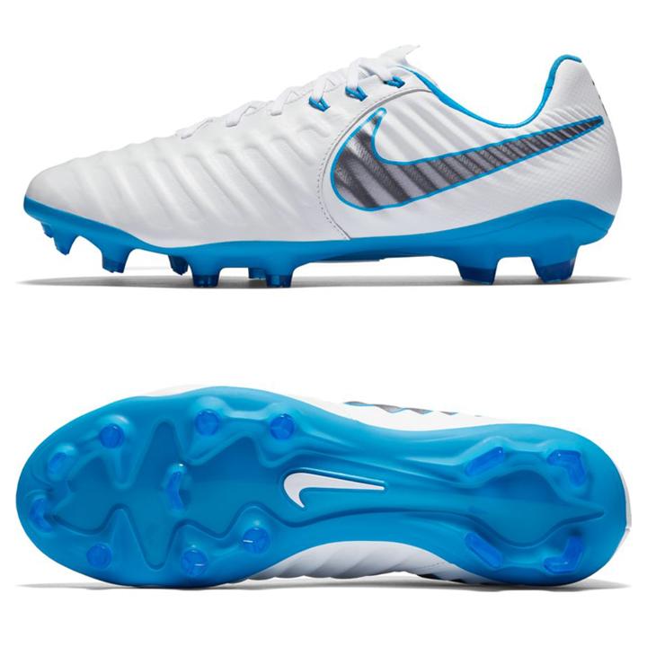 80c63355575 Nike Tiempo Legend 7 Pro FG Soccer Shoes (White Blue)   SoccerEvolution