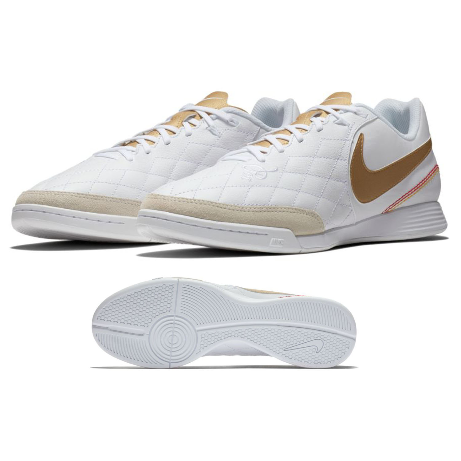 Nike Tiempo Legend 7 Academy Ronaldinho #10 Indoor Shoes (White) @  SoccerEvolution