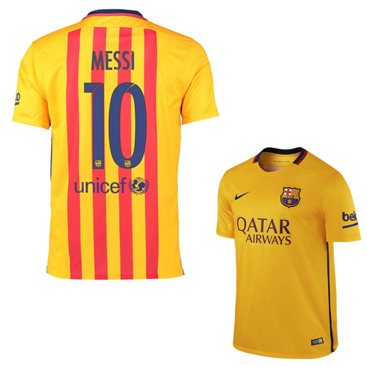 1cc07fa6b Nike Barcelona Lionel Messi  10 Soccer Jersey (Away 15 16 ...