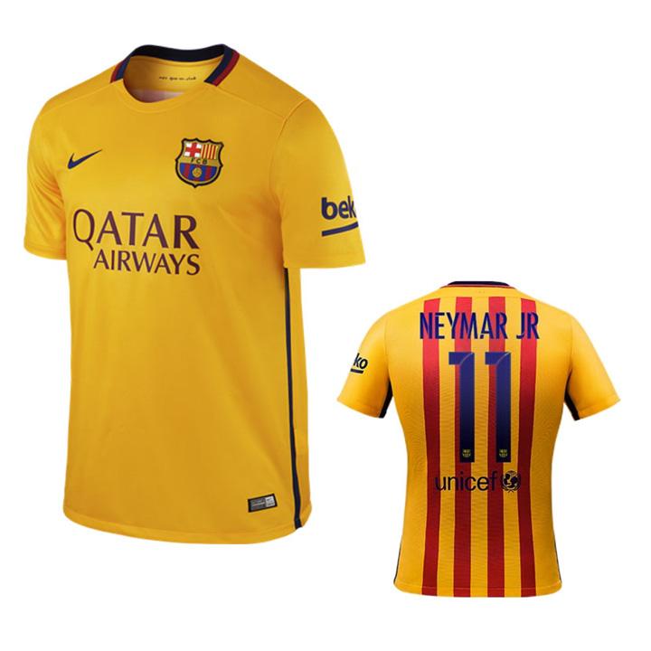 d402ddda6 Nike Barcelona Neymar  11 Soccer Jersey (Away 15 16)   SoccerEvolution
