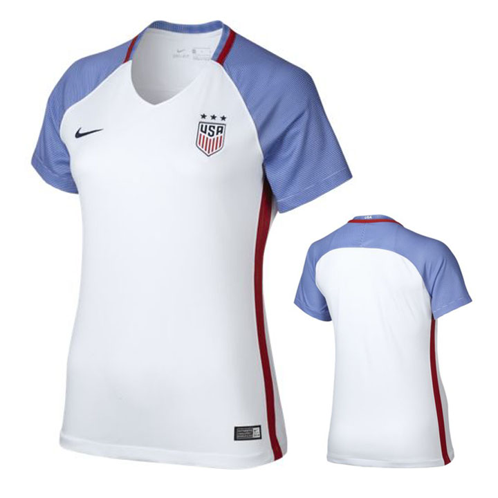 ea2e0da3d Nike Womens USA USWNT Player Cut Jersey (Home 16/17) @ SoccerEvolution