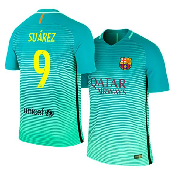 84d95a725 Nike Barcelona Suarez  9 Soccer Jersey (Alternate Logo 16 17 ...