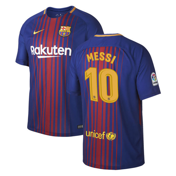 Nike barcelona lionel messi 10 soccer jersey home 17 18 for Unique home stays jersey