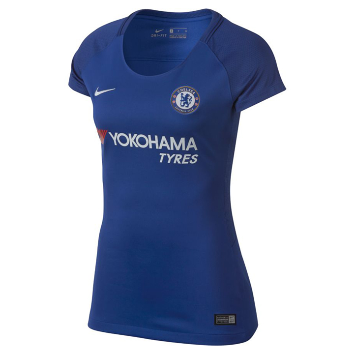 Nike womens chelsea soccer jersey home 17 18 for Unique home stays jersey