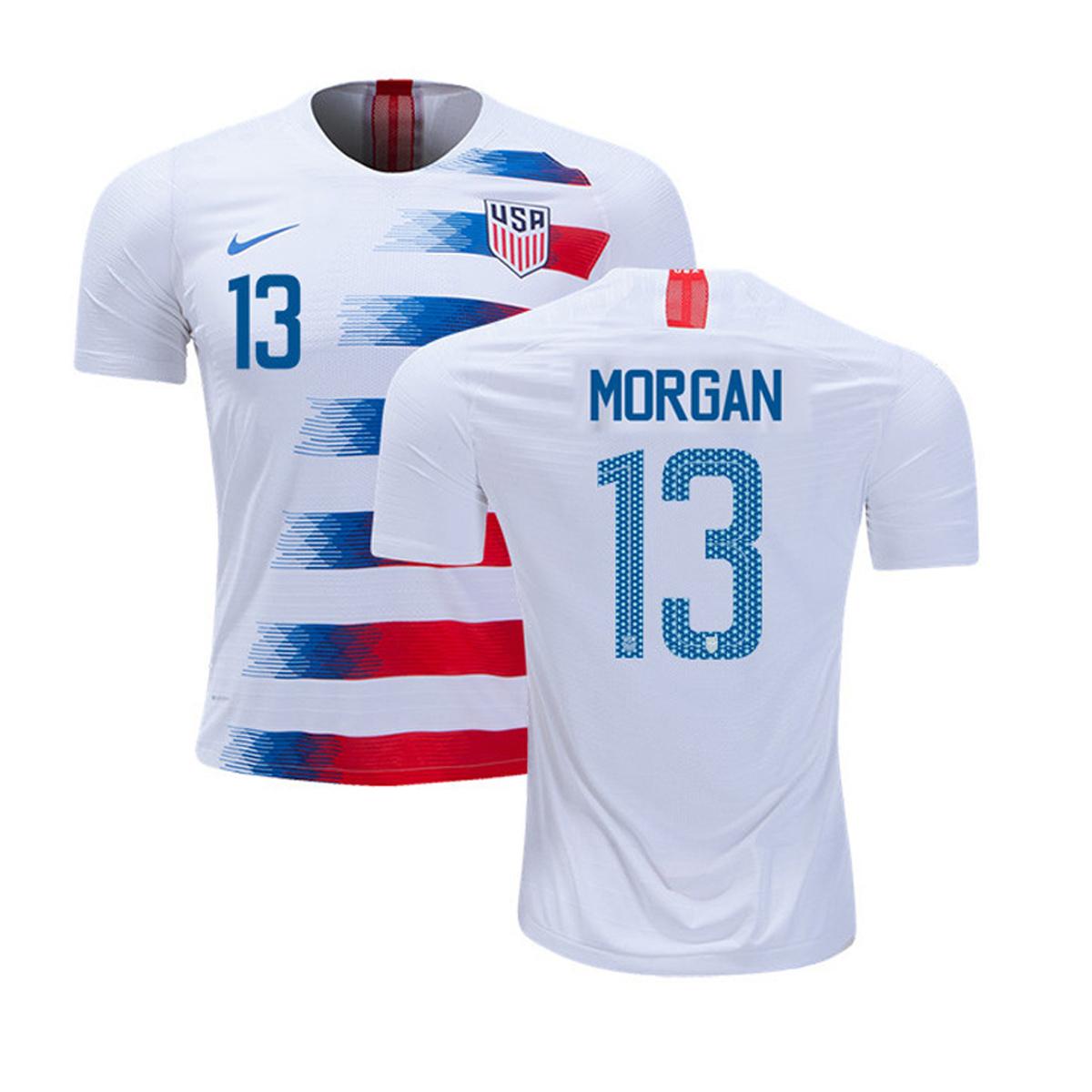 73e82e780 Nike USA Alex Morgan  13 Men s Soccer Jersey (Home 18 19 ...