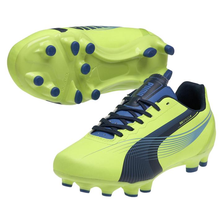 0f0a8ab918b6 Puma Womens evoSpeed 4.2 FG Soccer Shoes (Yellow Blue)   SoccerEvolution