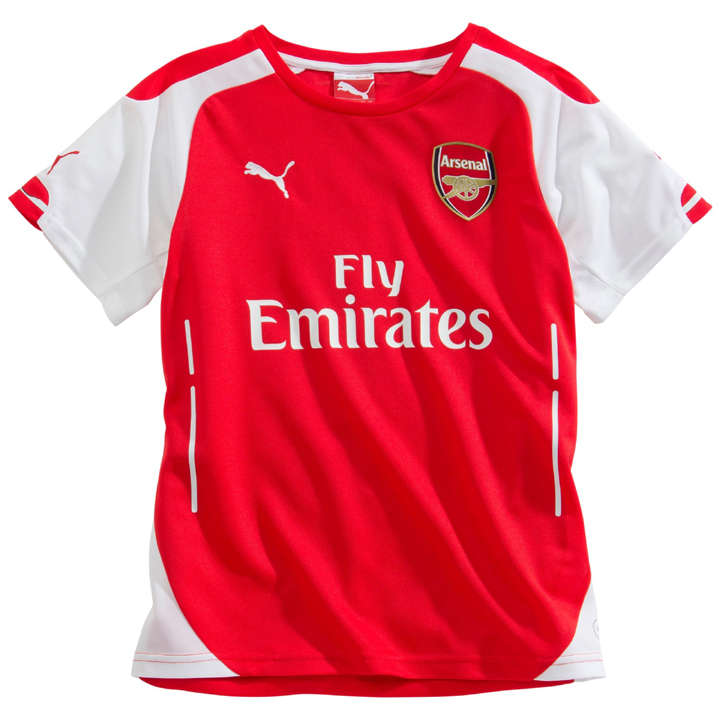 36b09cef8 Puma Youth Arsenal Soccer Jersey (Home 14 15)   SoccerEvolution