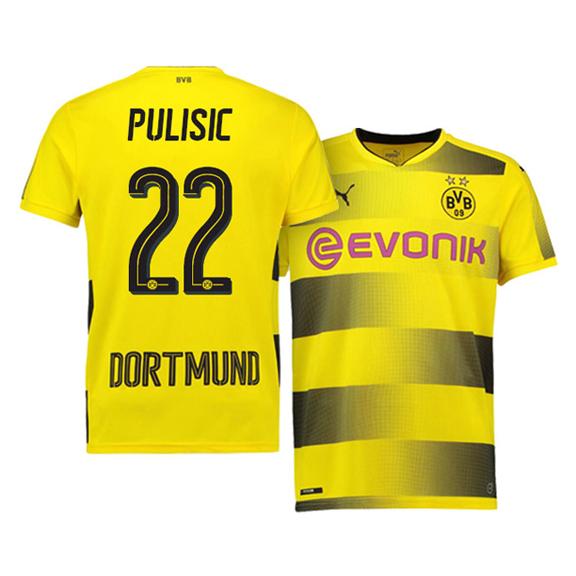 Puma Borussia Dortmund Pulisic  22 Soccer Jersey (Home 17 18 ... a564a2166