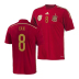 adidas Youth Spain Xavi #8 Soccer Jersey (Home 14/15)