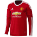 adidas Manchester United Long Sleeve Soccer Jersey (Home 15/16)