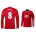 adidas Manchester United Mata #8 LS Soccer Jersey (Home 15/16)