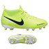 Nike Youth  Phantom Vision Club DF MG Soccer Shoes (Volt/White)