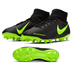 Nike  Phantom Vision Club DF MG Soccer Shoes (Black/Volt)