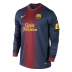 Nike Barcelona Long Sleeve Soccer Jersey (Home 12/13)