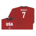 Nike USA Beasley Long Sleeve Hero Soccer Tee (Red)