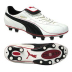 Puma King XL I FG Soccer Shoes (White/Black)