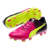 Puma Youth  evoPower  1.3 Tricks FG Soccer Shoes (Pink Glo/Yellow)