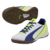 Puma Womens evoSpeed 4.3 Indoor Soccer Shoes (White/Blue)