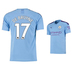 Puma Youth  Manchester City  De Bruyne #17 Jersey (Home 19/20)